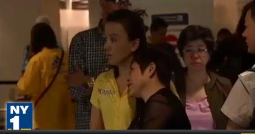 Yao's Family at Newark Airport