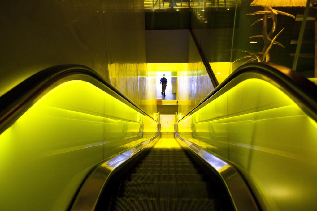 Hudson Hotel escalator